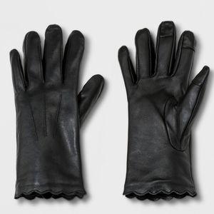 A New Day Black Lambskin Gloves M/L